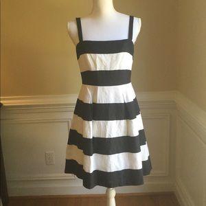 LOFT Black & White Stripe Sundress EUC Sz.4